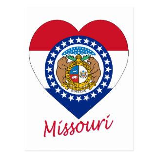 Missouri Flag Heart Postcard