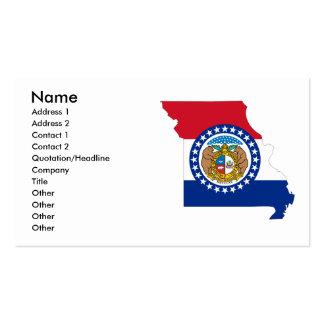 Missouri Flag Map Business Card