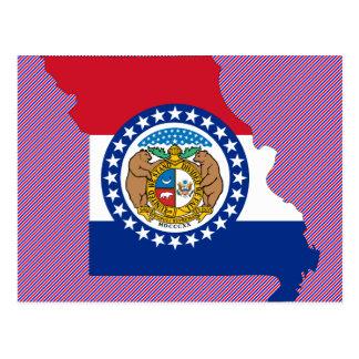 Missouri Flag Map Postcard