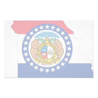 Missouri Flag Map Personalized Stationery