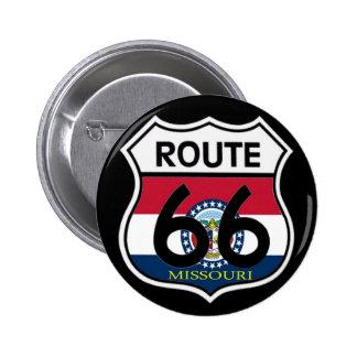 Missouri Flag Route 66 Shield Button