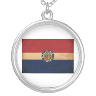 Missouri Flag Silver Plated Necklace