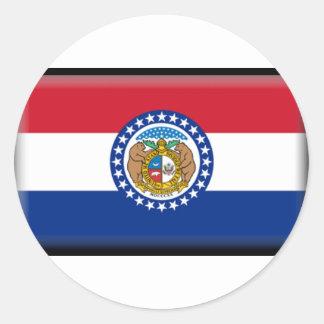 Missouri Flag Round Sticker
