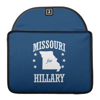 MISSOURI FOR HILLARY MacBook PRO SLEEVES