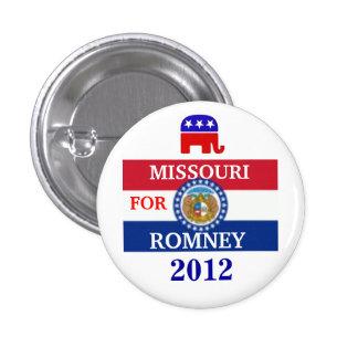 MISSOURI  for Romney 2012 1 Inch Round Button