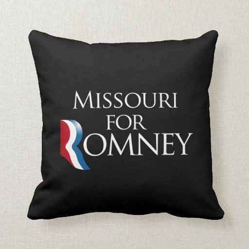 Missouri for Romney -.png Throw Pillows