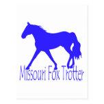 Missouri Fox Trotter Blue Horse Silhouette Postcard