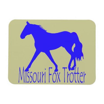 Missouri Fox Trotter Blue Horse Silhouette Flexible Magnets
