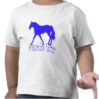 Missouri Fox Trotter Blue Horse Silhouette T Shirts