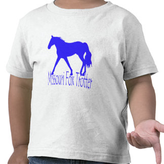 Missouri Fox Trotter Blue Horse Silhouette T Shirts