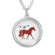 Missouri Fox Trotter Festive Stars Necklaces