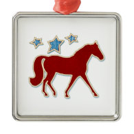 Missouri Fox Trotter Festive Stars Ornament