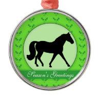 Missouri Fox Trotter Holly Season's Greetings Christmas Tree Ornament