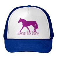 Missouri Fox Trotter Silhouette Magenta Mesh Hat