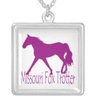 Missouri Fox Trotter Silhouette Magenta Pendants