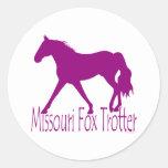 Missouri Fox Trotter Silhouette Magenta Stickers