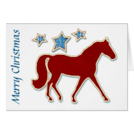 Missouri Fox Trotter Stars Merry Christmas Cards