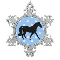 Missouri Fox Trotter White Christmas Trees Ornament