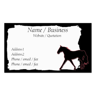 Missouri Fox Trotting Horse Banner Profile Double-Sided Standard Business Cards (Pack Of 100)