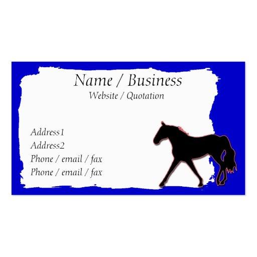 Missouri Fox Trotting Horse Banner Profile Business Cards
