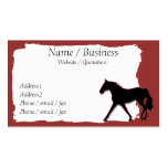 Missouri Fox Trotting Horse Banner Profile Business Card Templates