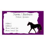 Missouri Fox Trotting Horse Banner Profile Business Card