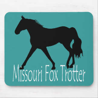 Missouri Fox Trotting Horse Black Silhouette Mouse Pads