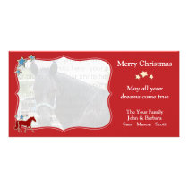 Missouri Fox Trotting Horse Festive Christmas Card