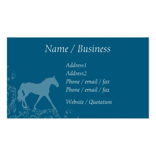 Missouri Fox Trotting Horse Flourish Profile Double-Sided Standard Business Cards (Pack Of 100)