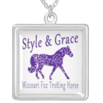 Missouri Fox Trotting Horse Style & Grace Silver Plated Necklace