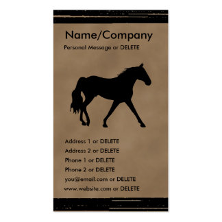 Missouri Foxtrotter Silhouette Personal Business Double-Sided Standard Business Cards (Pack Of 100)