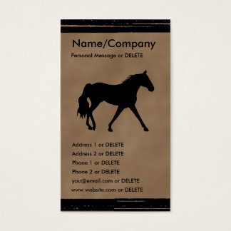 Missouri Foxtrotter Silhouette Personal Business Business Card