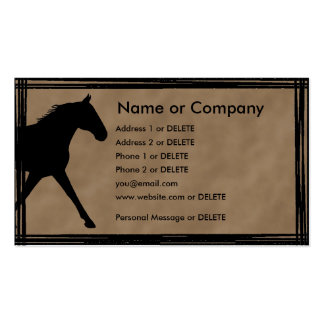 Missouri Foxtrotter Silhouette Personal Profile Double-Sided Standard Business Cards (Pack Of 100)