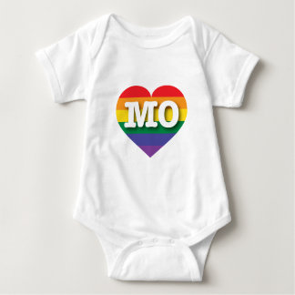 Missouri Gay Pride Rainbow Heart - Big Love Baby Bodysuit