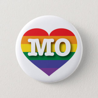 Missouri Gay Pride Rainbow Heart - Big Love Button