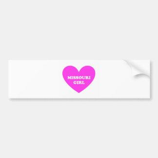 Missouri Girl Bumper Sticker