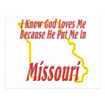 Missouri - God Loves Me Post Card