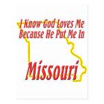 Missouri - God Loves Me Postcard