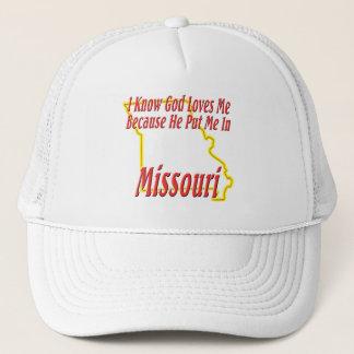 Missouri - God Loves Me Trucker Hat