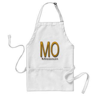 Missouri  gold adult apron
