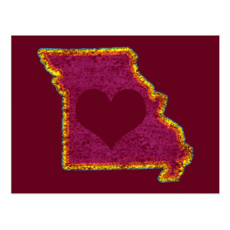 missouri grunge love postcard