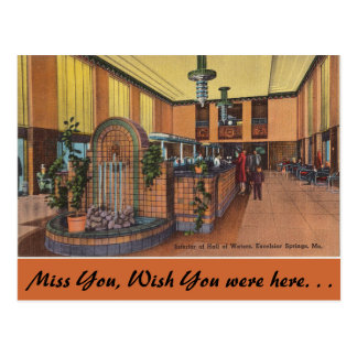 Missouri, Hall of Waters, Excelsior Springs Postcard