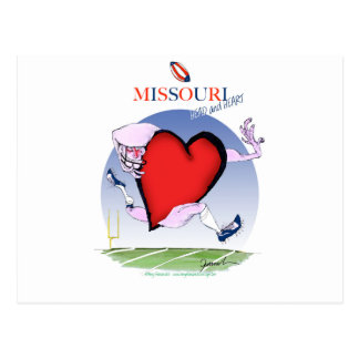 missouri head heart, tony fernandes postcard