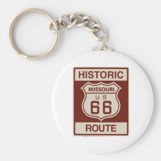 Missouri histórico Rt 66 Llavero Redondo Tipo Pin