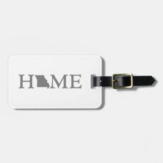 Missouri Home State Bag Tag