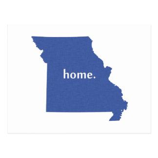 Missouri Home State Blue Postcard