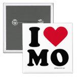 "MISSOURI - ""I LOVE MO"" ""I LOVE MISSOURI""  2 INCH SQUARE BUTTON"
