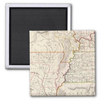 Missouri, Ill, Ky, Tenn, Ala, Miss, Ark 2 Inch Square Magnet