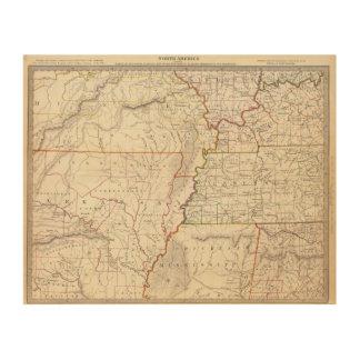 Missouri, Ill, Ky, Tenn, Ala, Miss, Ark Wood Wall Art