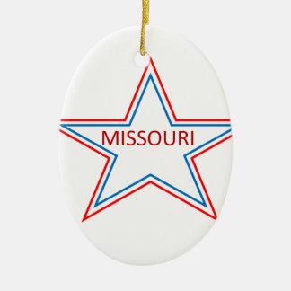Missouri in a star. christmas tree ornaments